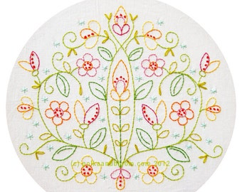 May Flowers Embroidery Pattern - PDF