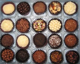 Gourmet Brigadeiros, Box of 12 Brazilian Truffles