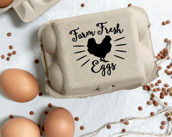Egg Carton Stamp -  The Lovley Egg Carton Stamp - Egg Stamp - Custom Egg Carton - Chickens - Farmers Market