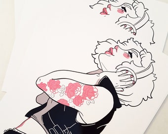 Rose Tattoo print