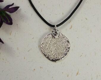 SALE Leaf Necklace, Silver Aspen Leaf, Real Leaf Necklace,Silver Aspen Leaf Pendant, SALE143