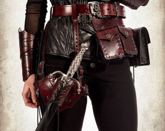 Rogue leg harness for LARP, action roleplaying and cosplay
