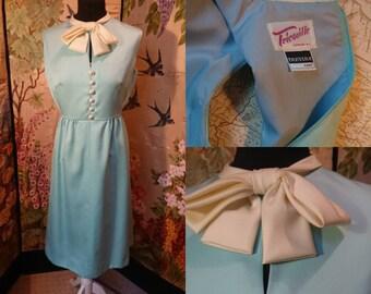 1960s Powder Blue Tricoville Dress.
