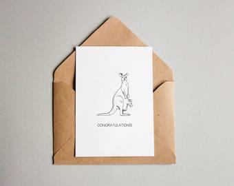 Mother's Day Kangaroo & Joey Greetings Card