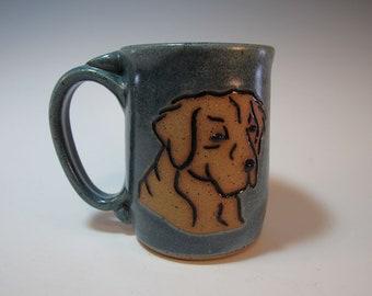 Dog Mug Lab Retriever Pet Mug Large Blue - 16 ounces - In Stock