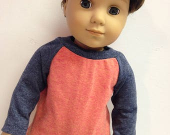 American Girl 18-inch Doll Clothes Baseball Tee