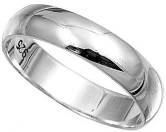 Solid 925  Sterling Ring 4mm Band Ring in Sizes G-Z