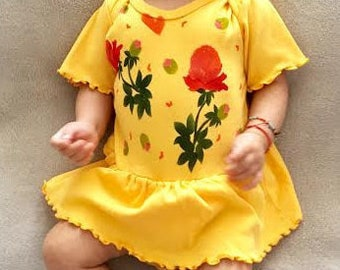 Peony, Baby Girl Dress, Spring, Shower Gift, Summer, Baby Shower, Infant Girl, One Piece