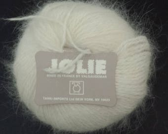 Tahki Jolie skein ball, French Angora and Merino Wool