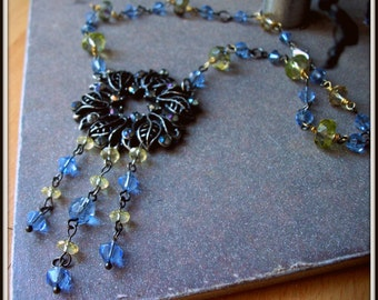 SALE Vintage Blue Necklace