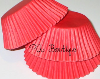 75ct. Solid RED Standard Cupcake Liners Baking Cups (Free Shipping!)