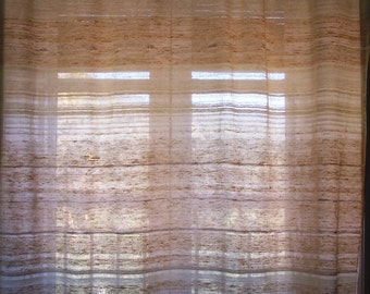 Linen and Cotton Curtain  Handwoven