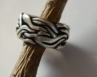 Silver ring made by Gregg Wolf