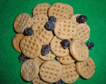 Tail Wagging Blueberry Waffle Dog Treats! My Lab eats Blueberries off the bush Loves Blueberries So I made her these treats!