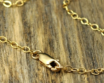 26 Inch 14k Gold Fill Necklace with 14k Gold Fill Lobster Clasp