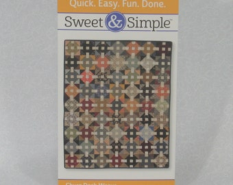 "Sweet & Simple Churn Dash Weave Quilt Pattern by Mary Etherington and Connie Tesene, Finishes at 35.5"" x 45.5"", Lap or Baby Quilt Pattern"