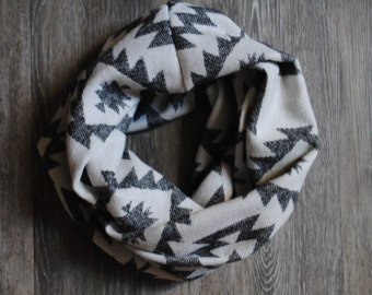Black and White Tribal Infinity Scarves, infinity scarf, tribal scarf, winter accessories, accessories