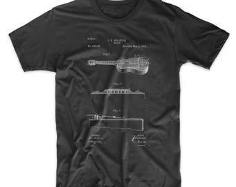 Acoustic Guitar Patent T Shirt, Guitar Shirt, Musician Gift, Music Shirt, PP0139