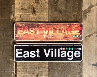 East Village - 4x15 in.