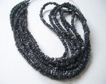 2mm To 3mm Rough Black Diamonds, Raw Diamond Beads, Rough Diamonds, BLACK Rough DIAMONDS (8 Inch Half Or 16 Inch Strand) AAA uncut beads