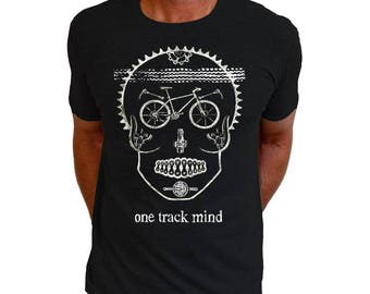 One Track Mind - Men's Cycling Tee Shirt Gifts For Cyclists