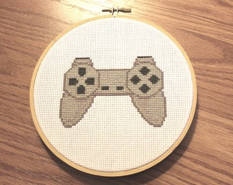 Playstation PSX Controller Cross Stitch Wall Art