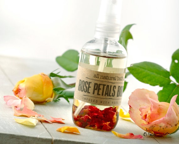 Rose Petals BODY OIL • Rosehip Organic Massage oil, Rose Organic Bath oil, All natural skin care, Aromatic Rosehip body oil, Elixirium oil
