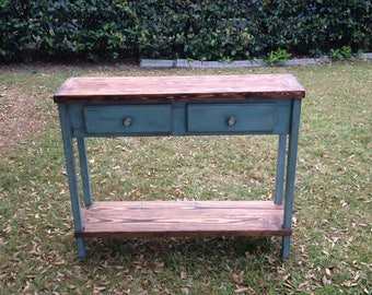 FREE SHIPPING 48 inch wood console table