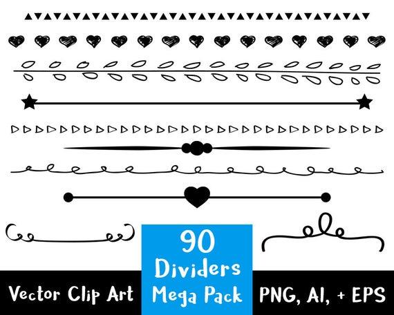 line divider clipart 90 dividers mega pack wedding clipart page rh etsystudio com divider clipart png text divider clipart