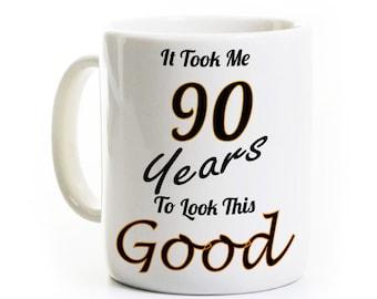 90e anniversaire cadeau une tasse de café - il m'a fallu des années 90 à regarder cette bonne - 90 ans ancien
