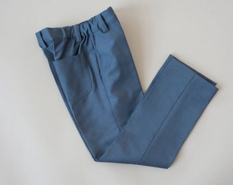 Blue boys suit trousers