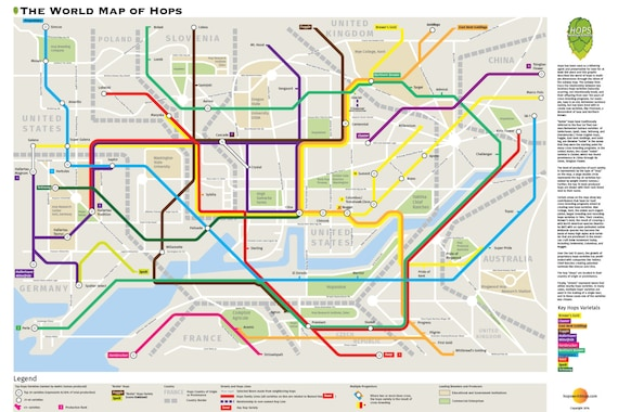 Beer poster world of hops subway map of beers limited gumiabroncs Choice Image