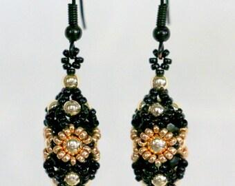 Lava blossom - handmade earrings