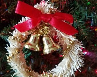 Cream vintage wreath ornament