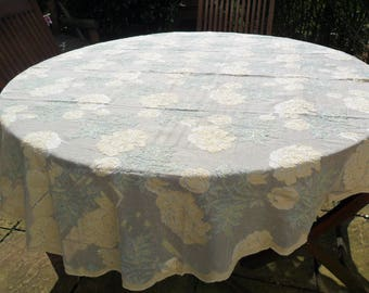 "Made in Scotland, Classical Scottish Rosemary Design Ivory/Ecru Madras Oval Lace Tablecloth 100%Cotton 66""x 56"" Oval 165x146cm AR10274"