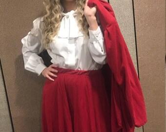 "1980s Red power Suit ""Sandra"""
