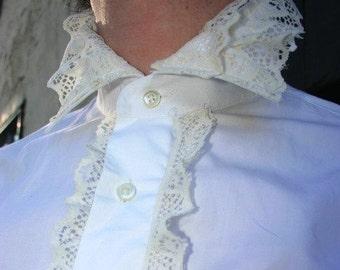 Gentlmen's Fancy Lace Shirt