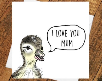 Mum Card Birthday Mothers day i love you mum best ever grandma mam mother mama mom special occasion