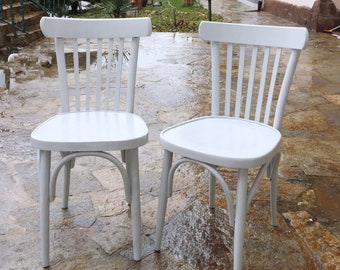 Vintage chairs light gray