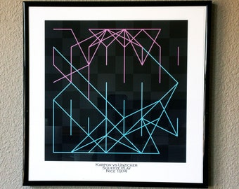 Chess Gifts-Famous Chess Game Art Print- - Karpov vs Unzicker 1974