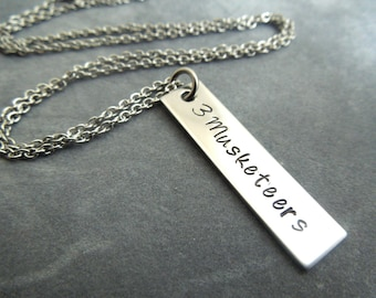 personalized hand stamped stainless steel rectangle tag necklace