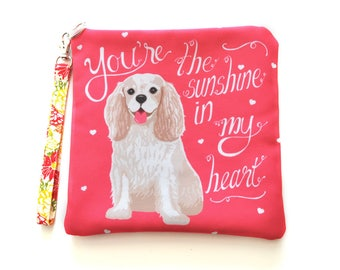 Cavalier King Charles Spaniel Padded Art Pouch- You're The Sunshine In My Heart
