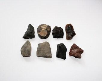 8 Antique Arrowheads Native American 1800s North Dakota