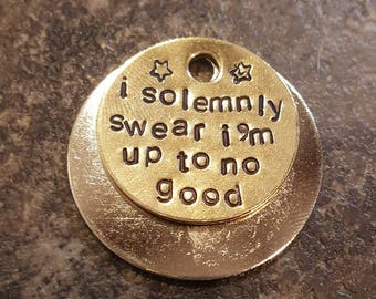 I solemnly swear... Harry Potter themed dog tag pet tag