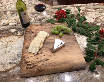 Thick Solid Walnut Cutting Board, Cheese Board, Serving Tray