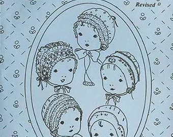 Baby Bonnets Pattern / Hanky Bonnet / Christening Bonnet / T-Bonnet / French Bonnet / Boys Cap / Jeannie Baumeister / The Old Fashioned Baby