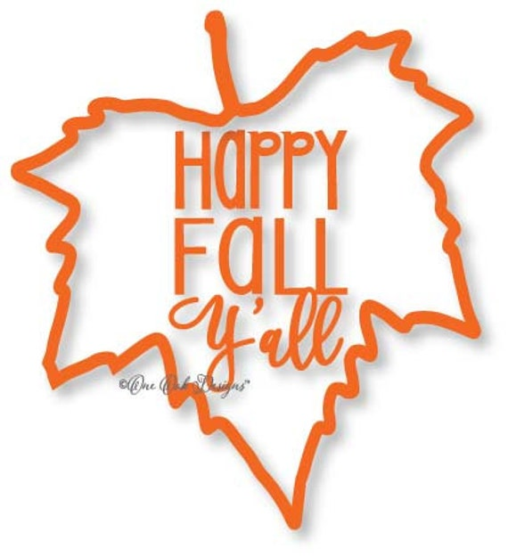 Download Happy Fall Y'all Maple Leaf SVG File Vector dxf pdf eps AI