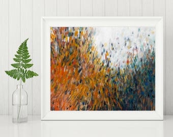 Abstract Landscape Painting Print - Art Printable - Digital Download Art Print - Abstract Art Print - Earth Tones Modern Wall Art 8x10 11x14