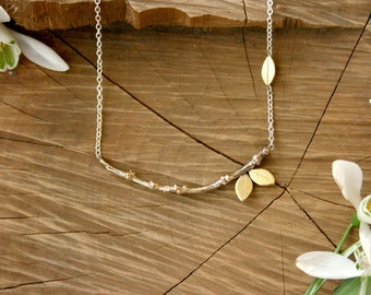 Tree Branch Necklace: Forest Necklace, Brass Twig Necklace, Branches Necklace, Nature Jewellery, Woodland Necklace, Rustic