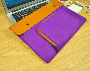 Felt Macbook 15 Case , Felt Macbook 15 Sleeve ,Macbook Pro 15 Case , Macbook 15inch Sleeve , Macbook 12 Sleeve ,15 inch Laptop Case -TFL123